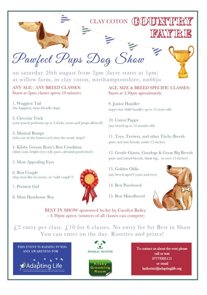 Pawfect Pups Dog Show Schedule